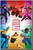 Big Hero 6 - Team Stretched Canvas Print