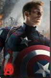 Avengers Age Of Ultron (Captain America) Toile tendue sur châssis