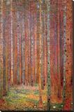 Dennenwoud Kunst op gespannen canvas van Gustav Klimt