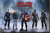 Captain America Civil War- Team Captain America Stretched Canvas Print