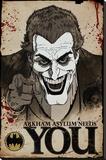 Batman Comic Joker Needs You Reproducción de lámina sobre lienzo