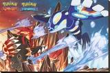 Pokemon- Groudon & Kyogre Stampa su tela