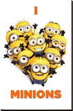 Despicable Me 2 (I Love Minions) Movie Poster Stretched Canvas Print