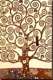 Der Baum des Lebens, Stoclet-Fries, ca. 1909, Detail Bedruckte aufgespannte Leinwand von Gustav Klimt