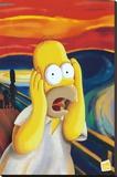 Die Simpsons Bedruckte aufgespannte Leinwand
