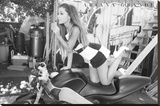 Ariana Grande Cycle Stretched Canvas Print