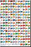 Bandeiras do mundo Impressão em tela esticada