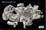 Star Wars - Millennium Falcon Cross-Section Trykk på strukket lerret