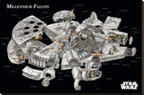 Star Wars - Millennium Falcon Cross-Section Stretched Canvas Print