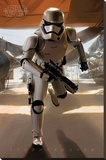Star Wars- Stormtrooper Running Stretched Canvas Print