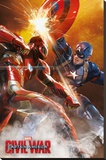 Captain America Civil War- Sparks Will Fly Stretched Canvas Print