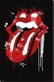 Rolling Stones - Graffiti Lips Impressão em tela esticada
