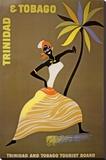 Trinidad and Tobago Stretched Canvas Print