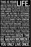 This Is Your Life Motivational Quote Reproducción de lámina sobre lienzo