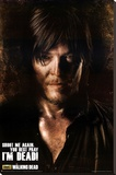 The Walking Dead Daryl - Shoot Me Again Stretched Canvas Print