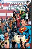 DC Comics - Justice League Cover Opspændt lærredstryk