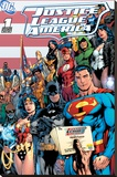 DC Comics - Justice League Cover Sträckt kanvastryck