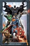 Dc Comics Justice League Group Stretched Canvas Print
