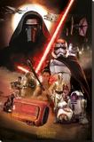 Star Wars- Montage Trykk på strukket lerret