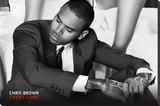 Chris Brown Music Poster Opspændt lærredstryk