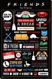 Friends Infographic Toile tendue sur châssis