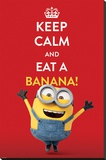Minions (Keep Calm) Stretched Canvas Print