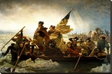 Washington Crossing the Delaware River Stretched Canvas Print by Emanuel Leutze