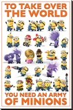 Despicable Me 2 - Take Over the World Stretched Canvas Print