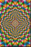 Psychodelic Pulse Stretched Canvas Print
