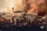 Hunger Games- Warriors Impressão em tela esticada