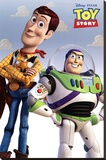 Toy Story (Woody & Buzz) Bedruckte aufgespannte Leinwand
