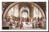 School Of Athens Stretched Canvas Print