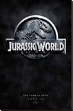Jurassic World Logo Teaser Stretched Canvas Print