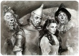 Wizard of Oz Black & White Blechschild