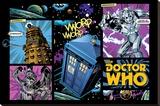 Doctor Who -Comic Layout Pingotettu canvasvedos