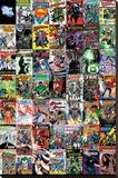 DC Comics – Montage Stretched Canvas Print