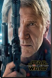 Star Wars The Force Awakens- Hans Solo Teaser Trykk på strukket lerret