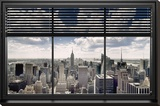 New York - Window Blinds Stretched Canvas Print