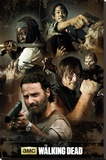 The Walking Dead Collage Stretched Canvas Print