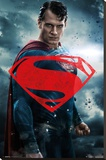 Batman Vs. Superman- Superman Solo Stretched Canvas Print