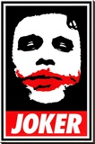 The Dark Knight - Obey The Joker Stretched Canvas Print