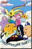 Adventure Time - Clouds Stretched Canvas Print