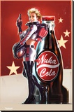 Fallout 4- Nuka Cola Pin Up Stretched Canvas Print