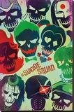 Suicide Squad- Sugar Skulls Stretched Canvas Print