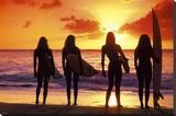 Surf and Sunset Kunst op gespannen canvas