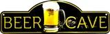 Beer Cave Placa de lata
