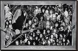 Metal (Heavy Metal Collage) Music Poster Print Opspændt lærredstryk
