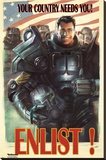 Fallout 4- Enlist Stretched Canvas Print