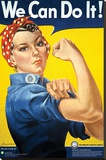 Smithsonian- Rosie The Riveter Trykk på strukket lerret
