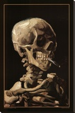Skull With Cigarette, 1885 Stretched Canvas Print by Vincent van Gogh